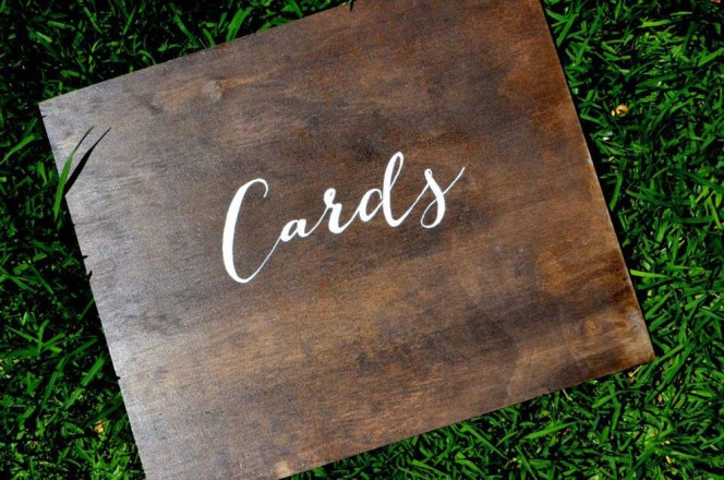 Wooden Cards Sign
