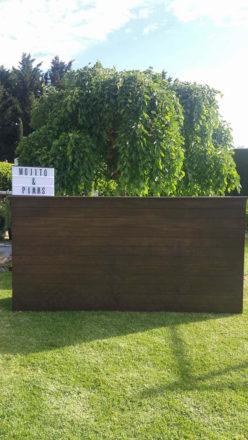 2.4M Dark Wood Bar