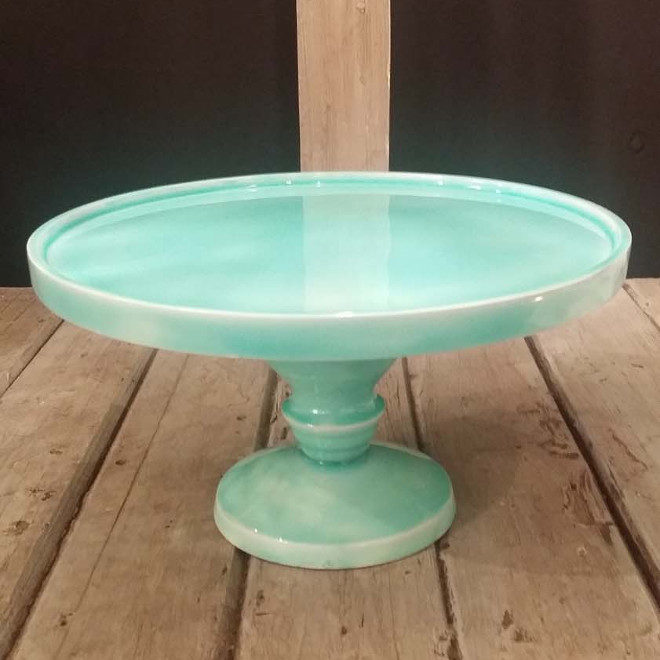 Cake stand - turquoise