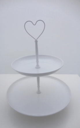 Metal Two Tier Cake Stand Heart