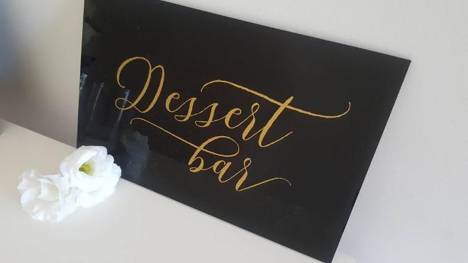 Dessert Black Acrylic