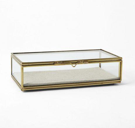 Brass Rectangle Card Box