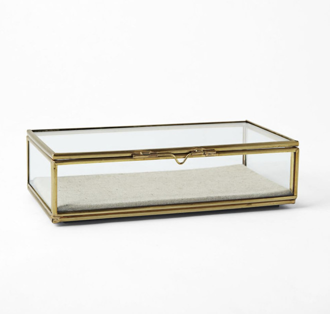 Brass Rectangle Card Box