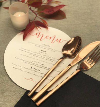 Rose Gold Polished Cutlery