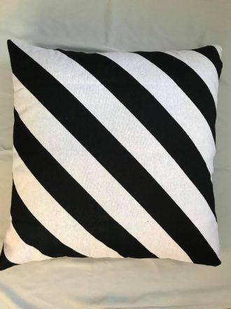 Black and White Textured Euro Cushion