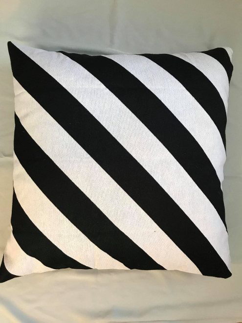 Black and White Textured Euro Cushion
