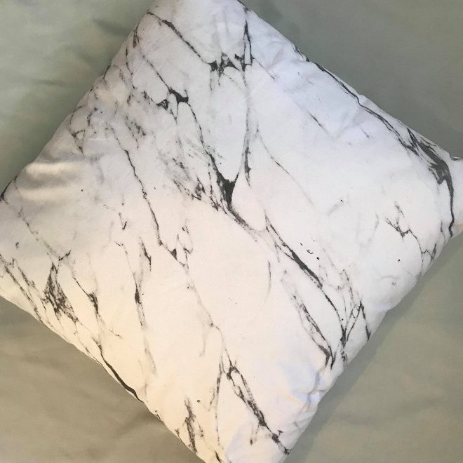 Carrara Marble Cushion
