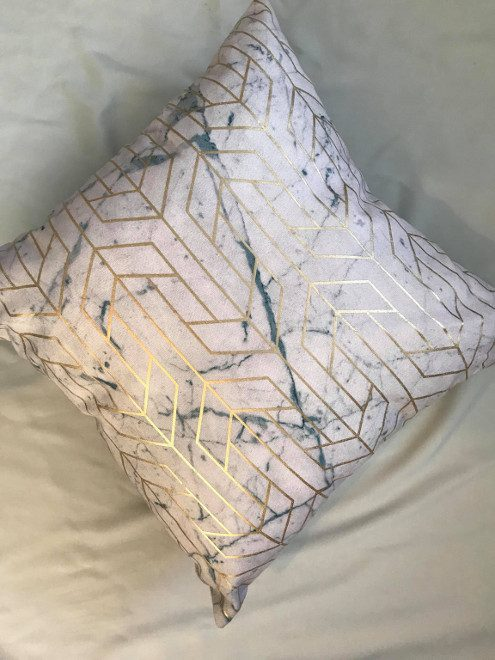 Gold & Marble Cushion