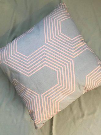 Pink and Grey Geo Cushion