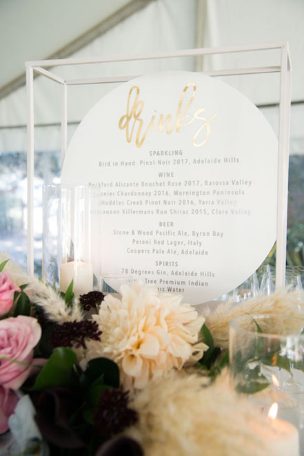 Table Frame with Tray in White | Kiera Blanden Events + Styling